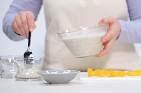 Riz au lait crémeux & mangues